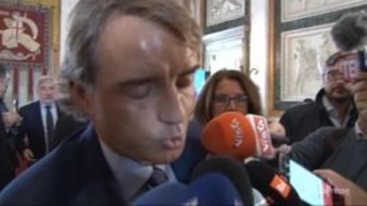 """Nazionale, Mancini: """"Felice di poter aiutare Genova. Porteremo gli sfollati al Ferraris"""""""