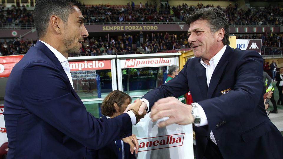 I due allenatori, Longo (Frosinone) e Mazzarri (Torino) ©