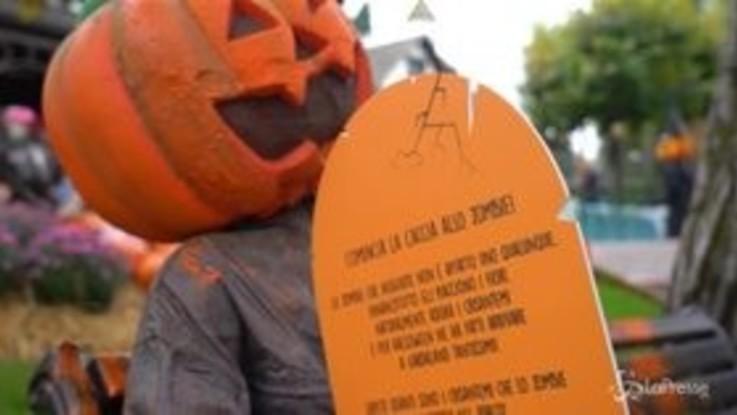 Gardaland, Federica Nargi dà il via a Halloween con una caccia allo zombie