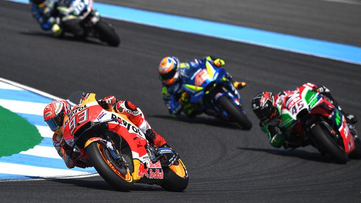 Gp Thailandia, Marquez trionfa davanti a Dovizioso, quarto Rossi