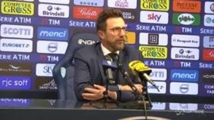 """Roma, Di Francesco: """"Vittoria importante, ma bisogna sapere chiudere le gare"""""""