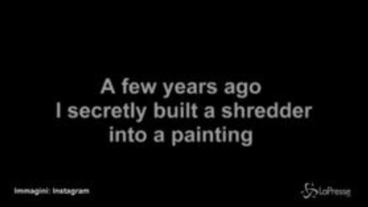 L'opera di Banksy si autodistrugge: l'artista spiega il meccanismo