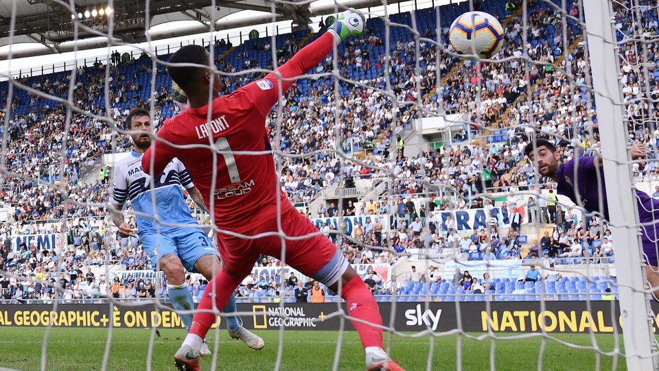Il gol di Immobile al 37' che porta la Lazio in vantaggio ©