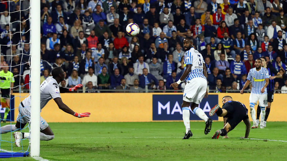 14' Subito Icardi la mette dentro: l'Inter passa in vantaggio 0-1 ©
