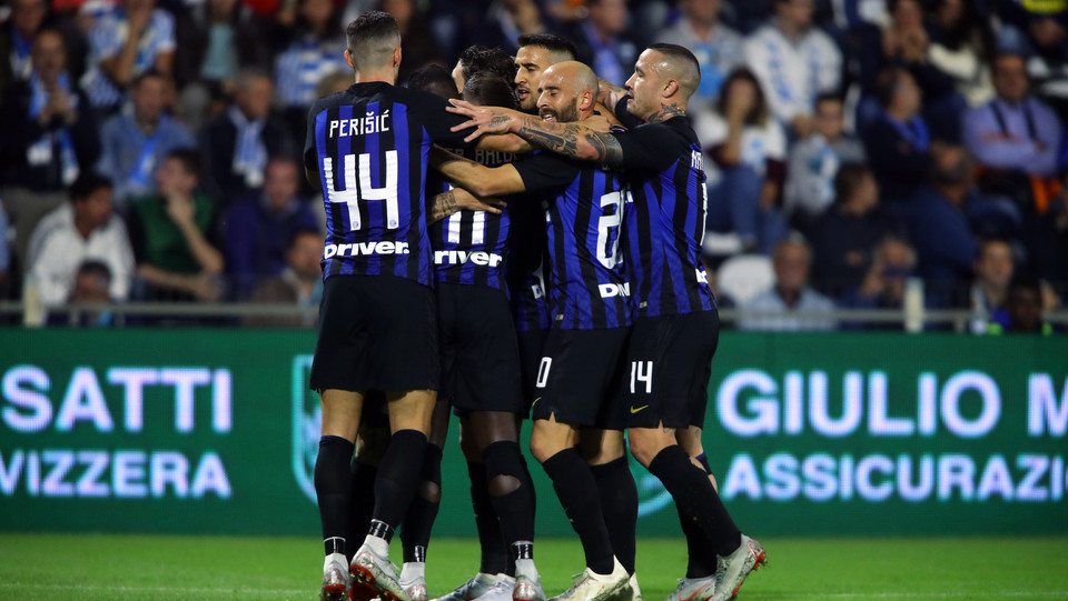 L'Inter esulta per il gol di Icardi ©