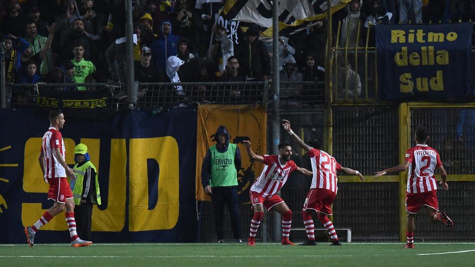 Juve Stabia - Rende Calcio 2-1 - La gioia di Vivacqua (Rende Calcio) ©