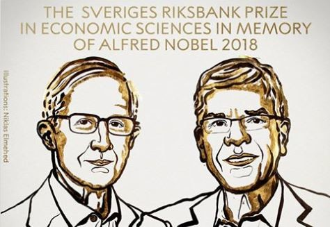 Nobel dell'Economia a William Nordhaus e Paul Romer