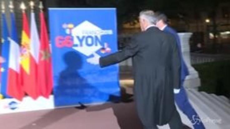 Il ministro dell'Interno Salvini al G6 di Lione