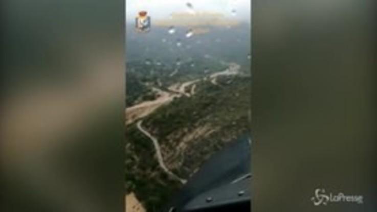 Alluvione nel cagliaritano: le immagini dall'alto