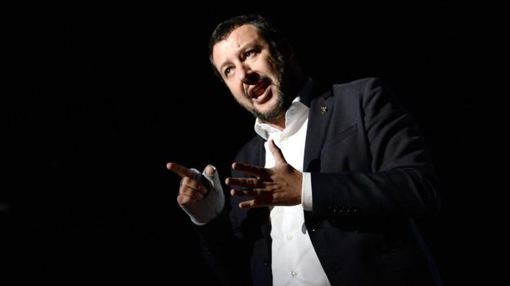 Salvini quasi ministro degli Esteri: va a Mosca e litiga con Macron