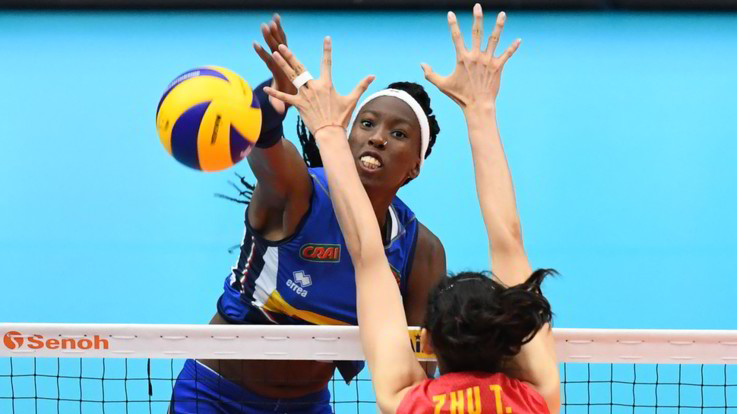 mondiali volley donne italia cina