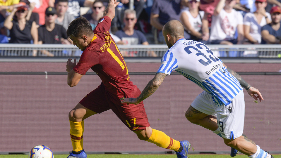 Cengiz Under (Roma) e Filippo Costa (Spal) ©