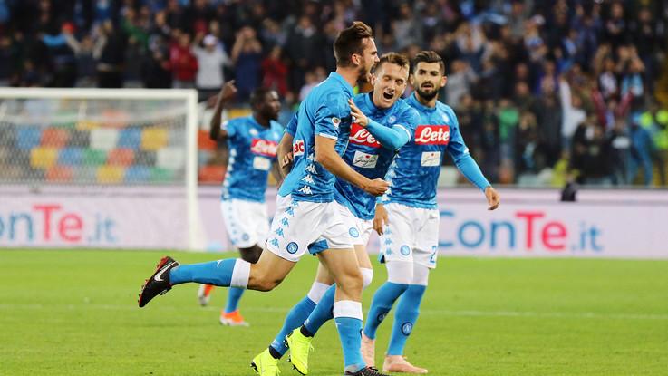 Serie A, Napoli cala tris ad Udine: azzurri a -4 da Juventus