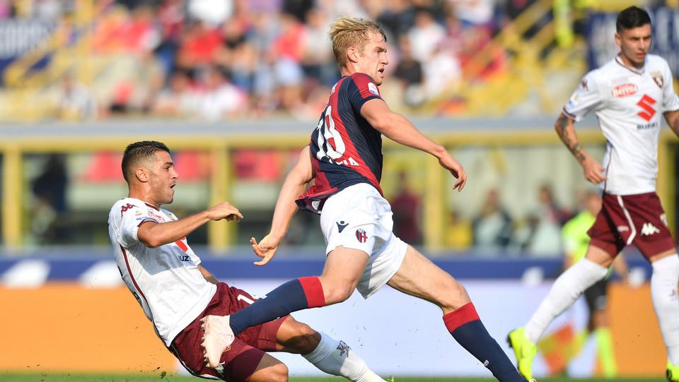 Falque sblocca la partita, segna e porta il Torino in vantaggio ©