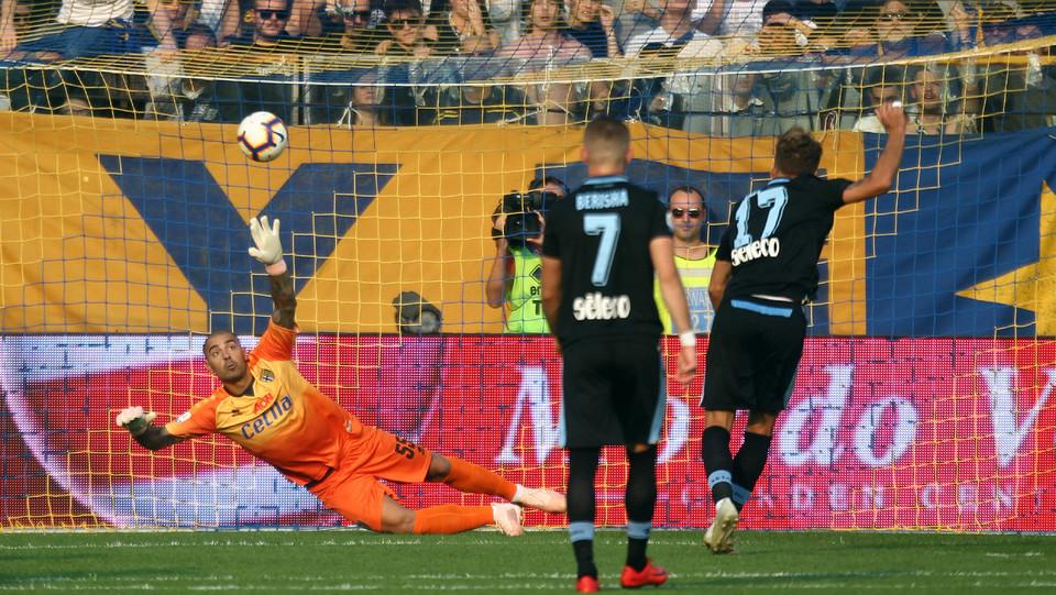 Immobile segna e porta la Lazio in vantaggio ©