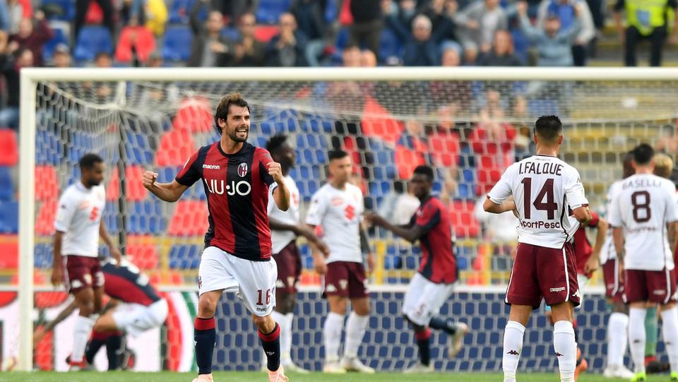 Federico Santander accorcia le distanze con un gol per il Bologna ©