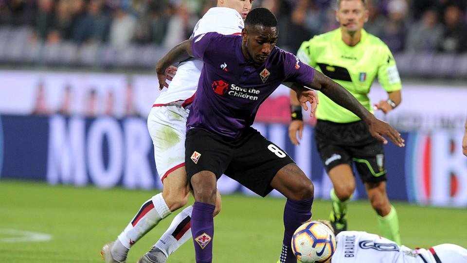 Gerson (Fiorentina) e Barella (Cagliari) ©
