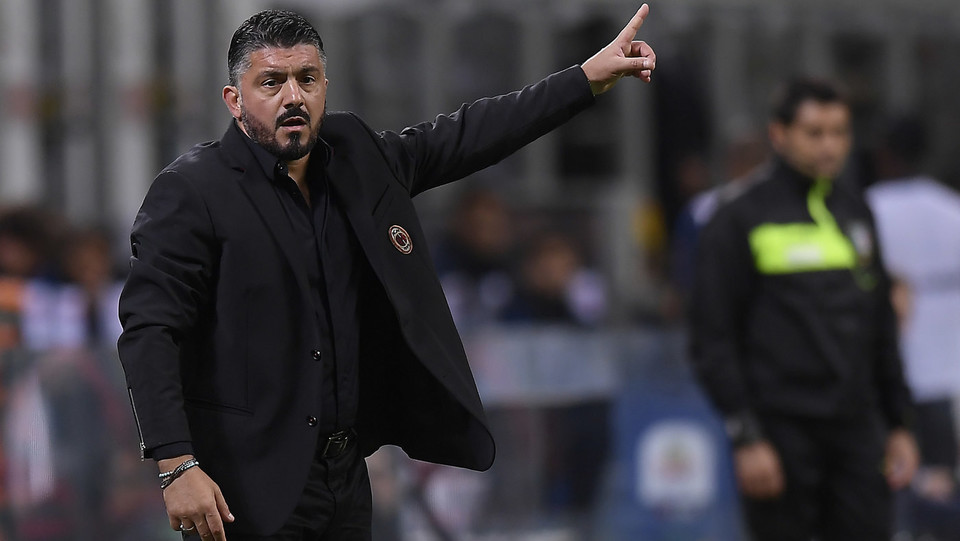 Gattuso ferito dal gol di Icardi: chiede ai ragazzi di lanciare la palla in area nerazzurra, ma a vincere alla fine è l'Inter ©