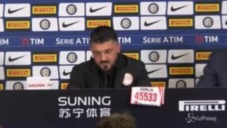 """Milan, Gattuso su Donnarumma: """"La colpa non è mai di uno solo"""""""