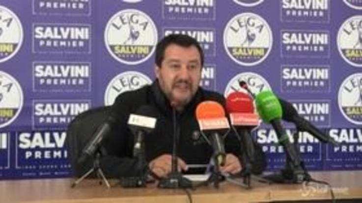 """Salvini: """"Il Milan ha giocato alla Monti, con la Fornero in porta"""""""
