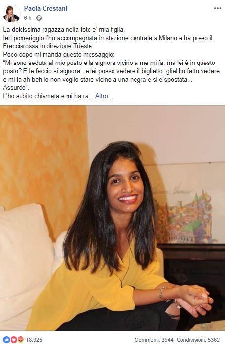 """""""Vicino a una negra non mi siedo"""", ragazza discriminata su treno Milano-Trieste"""
