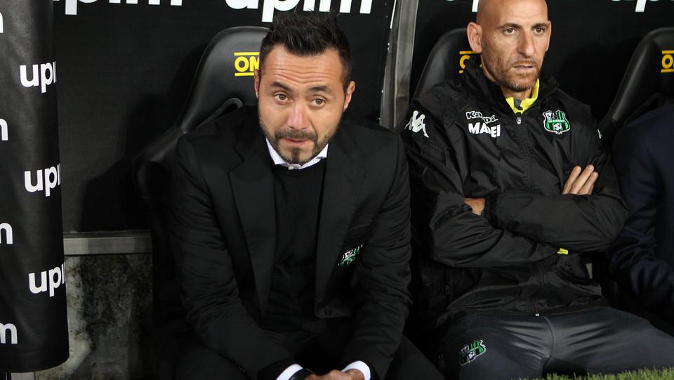 L'allenatore del Sassuolo De Zerbi ©