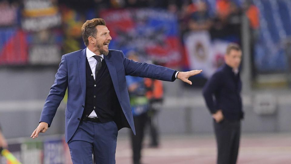 Di Francesco esulta per la vittoria ©