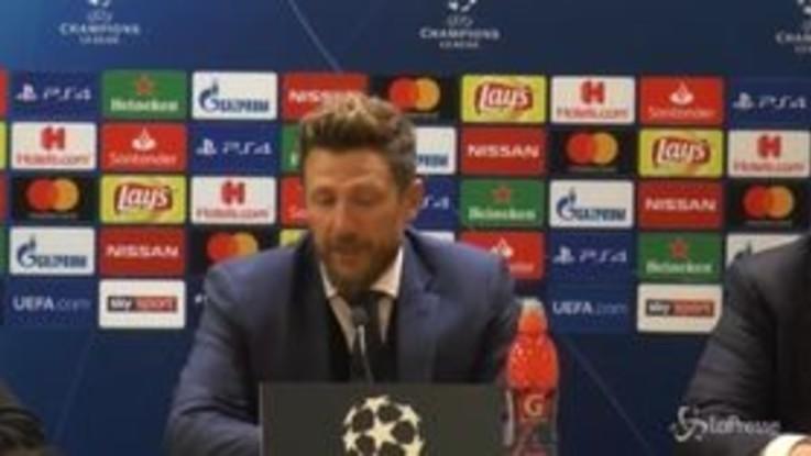 """Roma, Di Francesco: """"La squadra c'è, ma troppi punti persi in campionato"""""""
