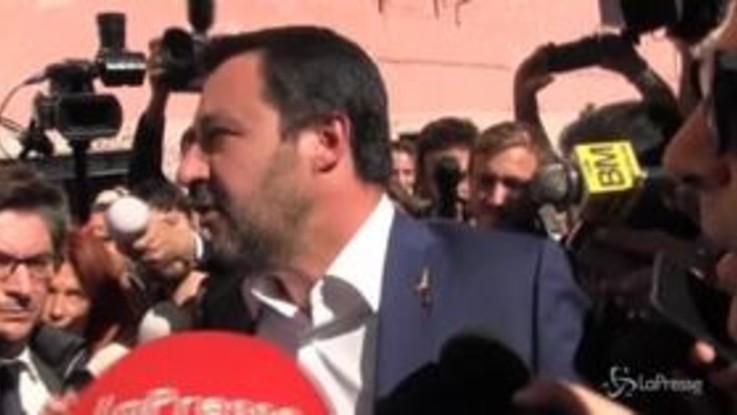 "Roma, Salvini a San Lorenzo: ""Tornerò con le ruspe"""