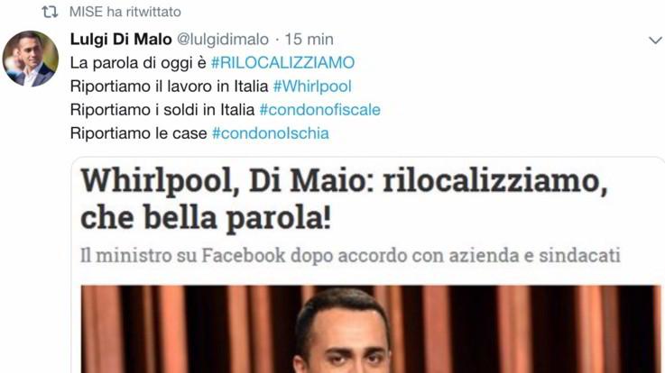 L'epic fail del Mise: ritwitta il fake di Luigi Di Maio