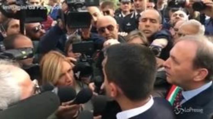 """Di Maio in Sicilia: """"Tempi di ricostruzione veloci"""""""