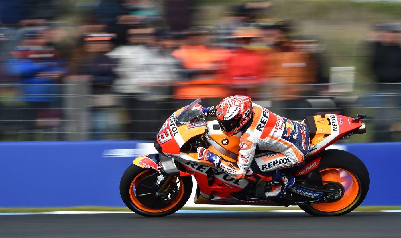 MotoGp, Australia: pole Marquez, settimo Rossi. Dovizioso è nono