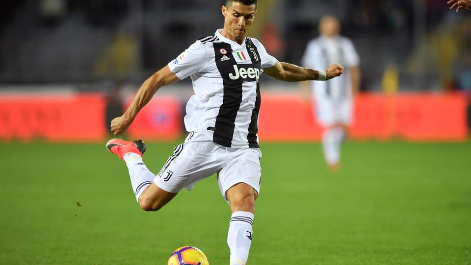 Ronaldo carica il destro per il gol del 1-2 ©