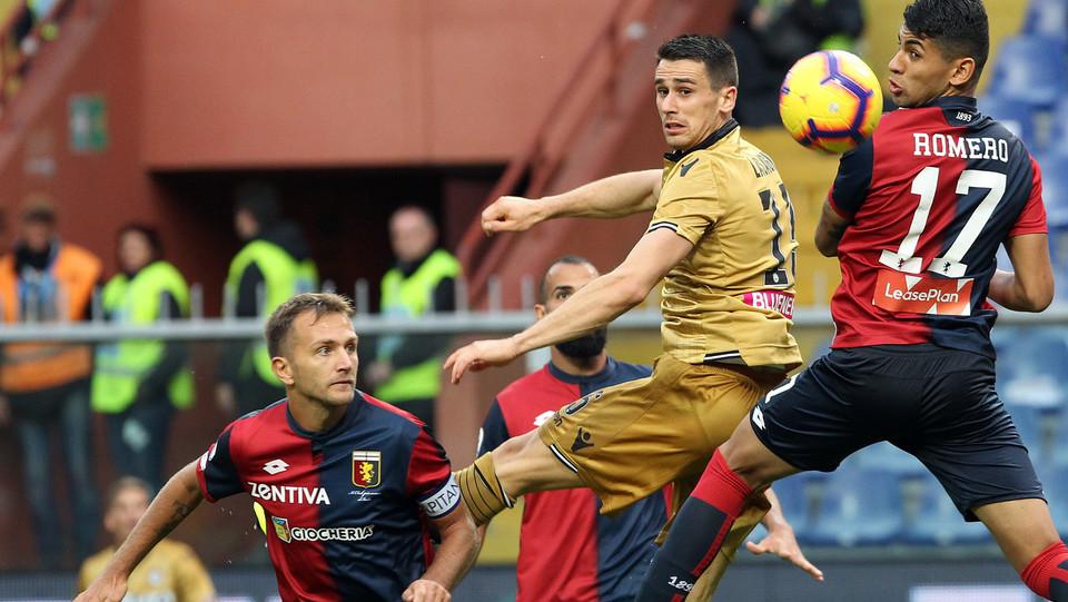 67' Genoa di nuovo in vantaggio con Romero, su assist perfetto di Bessa ©