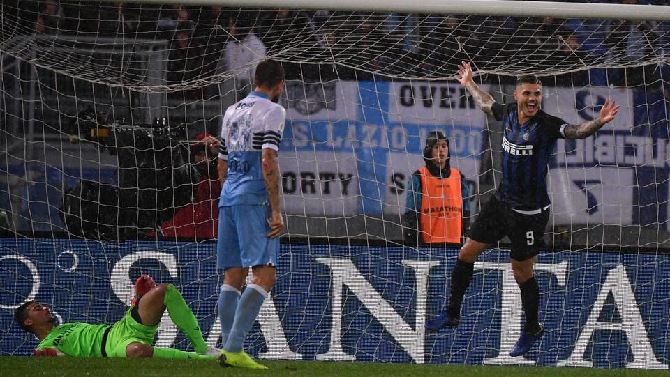 Il gol del vantaggio dell'Inter segnato da Icardi ©