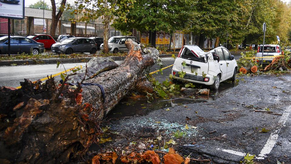 Maltempo, una macchina danneggiata in viale del Policlinico ©