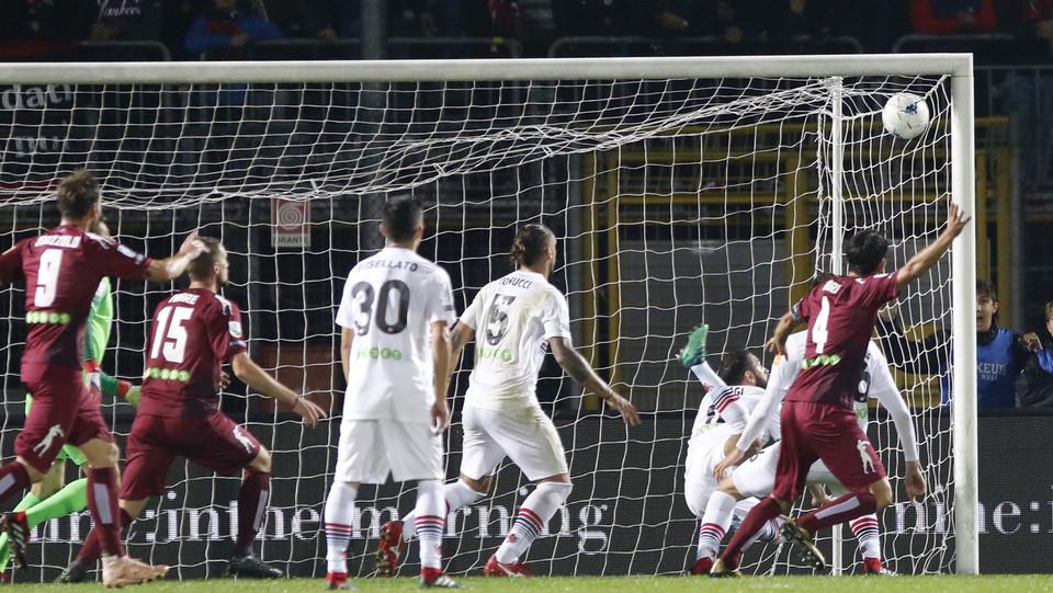 Cittadella-Foggia 1-1 - Il gol del pari di Iori ©