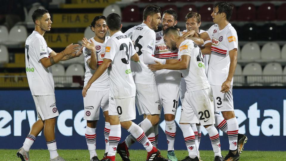 Cittadella-Foggia 1-1 - Dopo il gol di Chiaretti ©