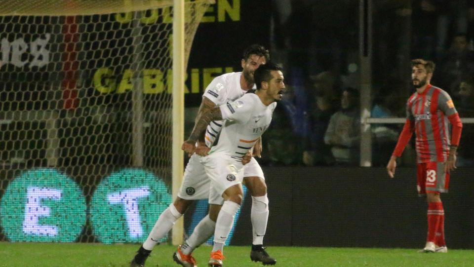 Cremonese - Venezia 0-1 - Di Mariano esulta dopo il gol ©