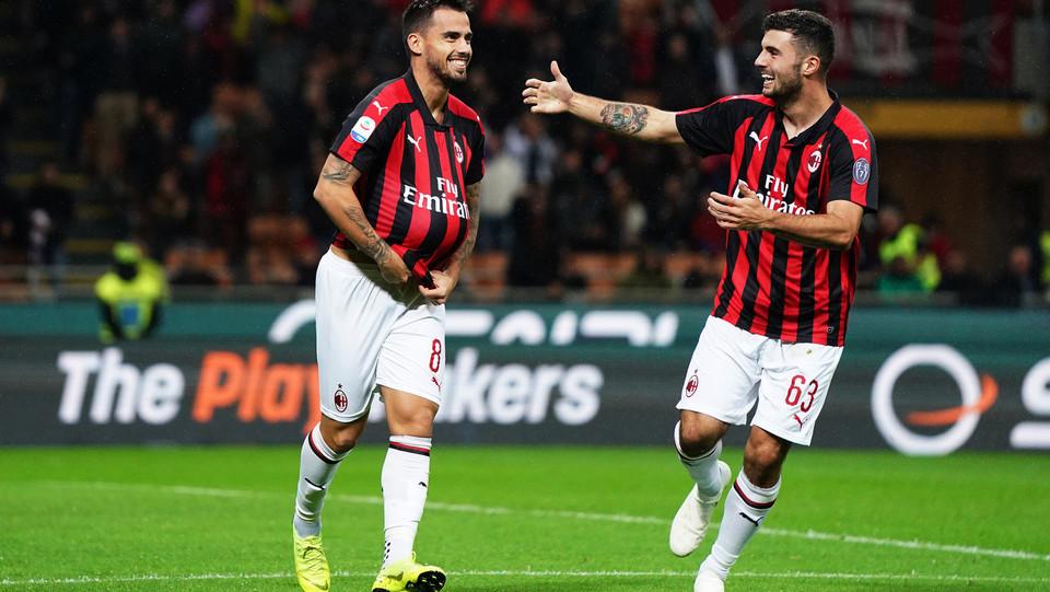 Pronti, via e Suso fa 1-0 da fuori area. Milan in vantaggio ©