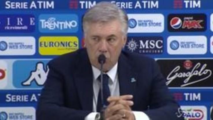 """Napoli, Ancelotti: """"Non sono contento, abbiamo rischiato troppo"""""""