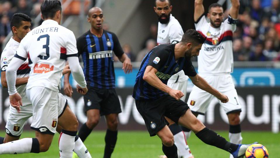 Joao Mario per la girata di Gagliardini: è già 1-0 Inter al 14' ©