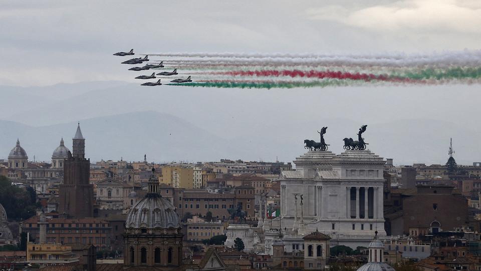 Le frecce Tricolori sulla Capitale ©