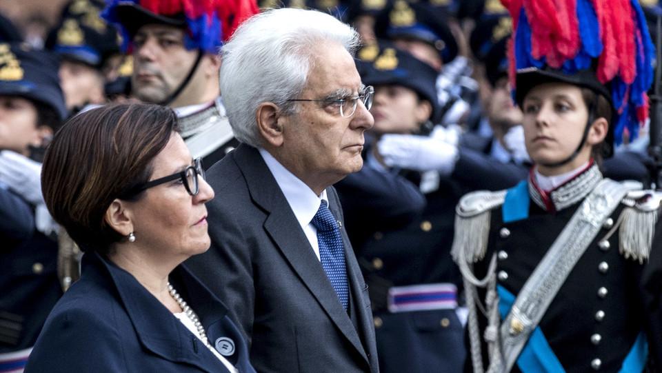 La ministra della Difesa Elisabetta Trenta e Mattarella ©