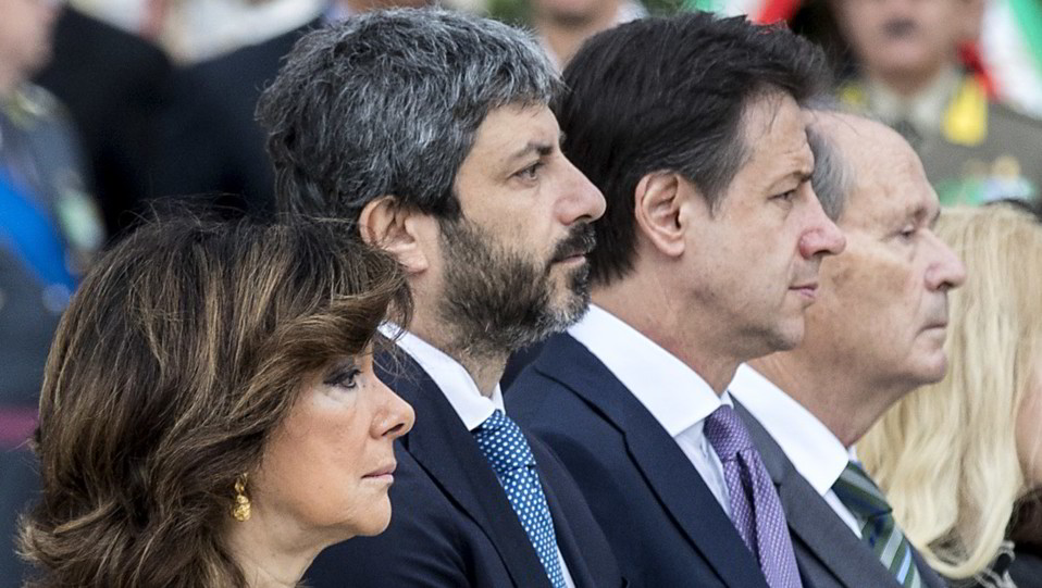 La presidente del Senato MAria Elisabetta Alberti Casellati, Fico e Conte ©