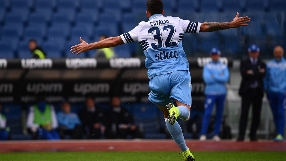 59' Imprendibile il tiro in porta di Cataldi che porta la Lazio 3-1 ©
