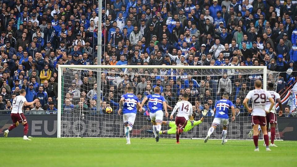 Belotti realizza il secondo gol su rigore ©