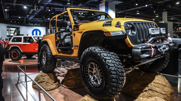 Jeep in vetrina a Las Vegas