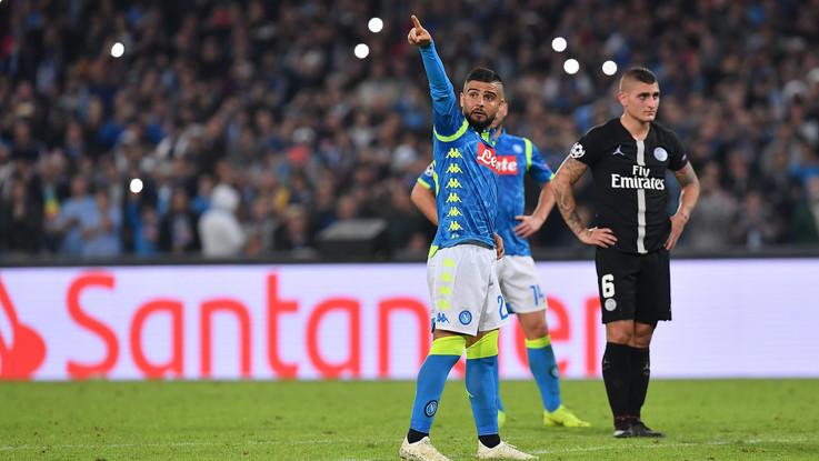 Champions League: Bernat-Insigne, Napoli strappa pari d'oro col Psg. Azzurri primi con il Liverpool