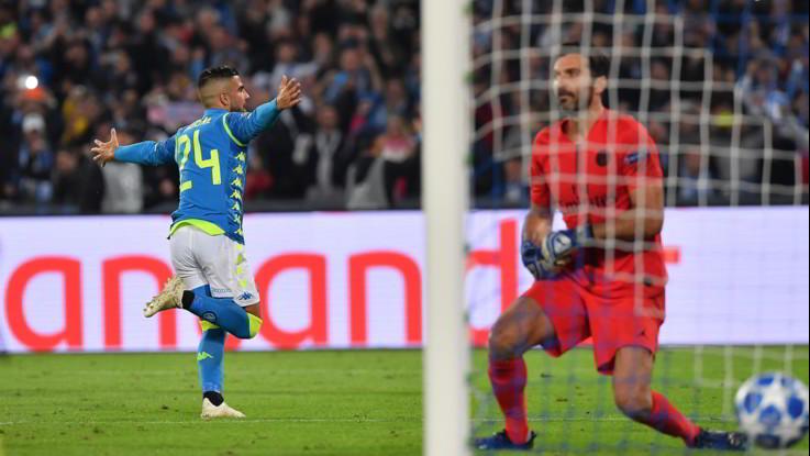 Champions, pagelle Napoli-Psg 1-1: Insigne glaciale, Allan monstre, Callejon leader
